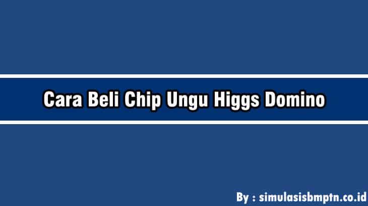 Cover Cara Beli Chip Ungu Higgs Domino